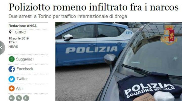 """De succes. Polițist român sub acoperire în Italia. Presa italiană: """"007 român infiltrat printre traficanți"""" 1"""