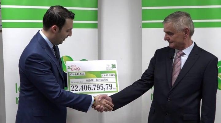 """(Video) Vezi cine este cel mai nou milionar în euro din România. A câștigat 4,7 milioane de euro la Loto 6/49. Andrei Butnariu: """"Cine face ca mine, ca mine să pățească!"""" 1"""