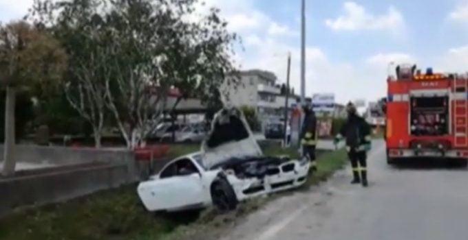 Accident grav. BMW cu 4 români în Italia, proiectat 30 de metri după impactul cu o mașină 15