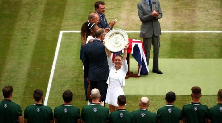 """Ce spune presa internaţională despre victoria Simonei Halep la Wimbledon. BBC: """"Simona Halep a zdrobit tentativa Serenei Williams de a obţine cel de-al 24-lea Grand Slam. Simona a câştigat cu o uluitoare demonstraţie de atletism"""" 1"""