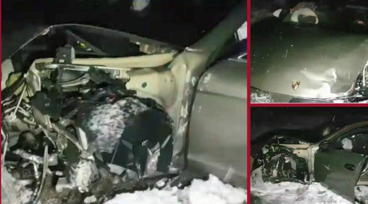 Porsche Panamera, făcut praf după o urmărire ca în filme. Şoferul a trecut de 3 filtre ale Poliției și a lovit 3 mașini. S-au tras focuri de armă 1
