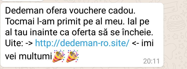 Ţeapă în România de sute de dolari în numele Dedeman cu vouchere-cadou 1