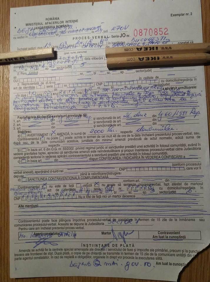 REACȚIE Jandarmeria după ce a amendat o persoană surdo-mută că a scandat lozinci anti-PSD 1