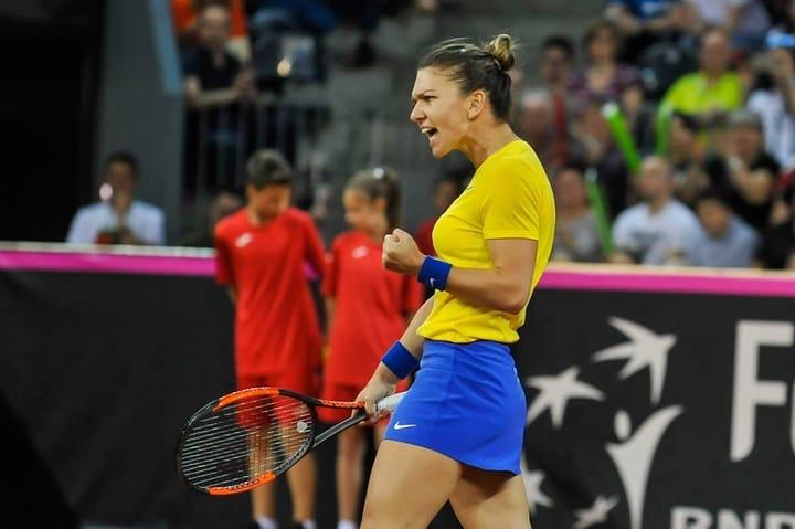 """Simona Halep s-a accidentat, a jucat tot meciul cu dureri dar atmosfera impresionantă de la Cluj a ținut-o în priză. """"Niciodată nu am trăit asemenea clipe pe teren. Am câştigat datorită publicului. A fost foarte greu să pot ..."""" 3"""