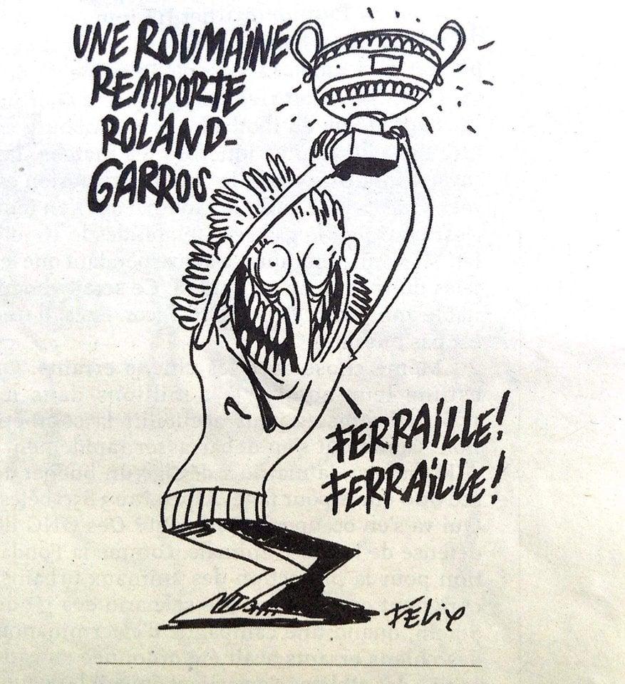 (Foto) Simona Halep jignită de francezii de la Charlie Hebdo. Caricatură ofensatoare 1