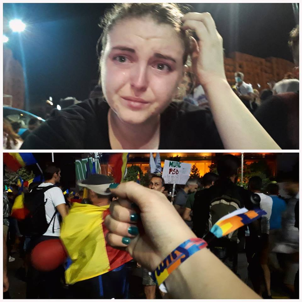 """Mărturie de vineri seara. Lidia Iştoc: """"Sunt la Victoriei, tata. N-am mai mers la festival. De data asta nu plâng pentru că mi-e dor de tine. Plâng pentru că sunt nişte oameni mari care dau cu nişte gaze din cauza cărora mă ustură ochii.... Dar să ştii că nu plec, tata. Am văzut, printre sutele de steaguri, şi pe cel al Spaniei. Şi m-am gândit la tine.  Ştiu că m-ai învățat să..."""" 1"""
