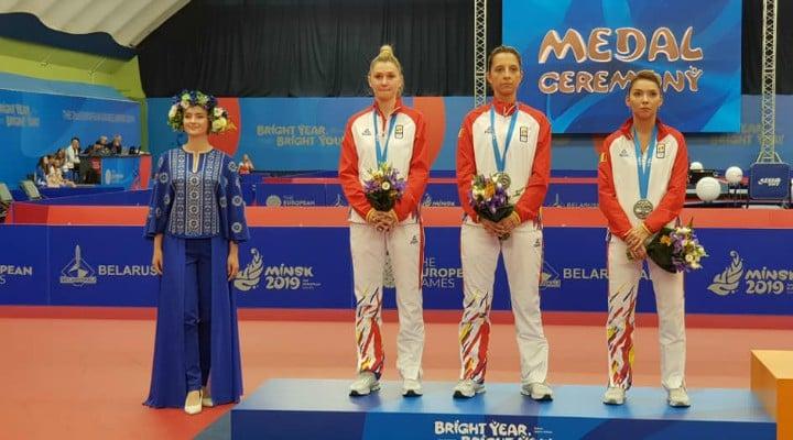FELICITĂRI! România, medalie de argint la tenis de masă în cadrul Jocurilor Europene care se desfășoară la Minsk 1