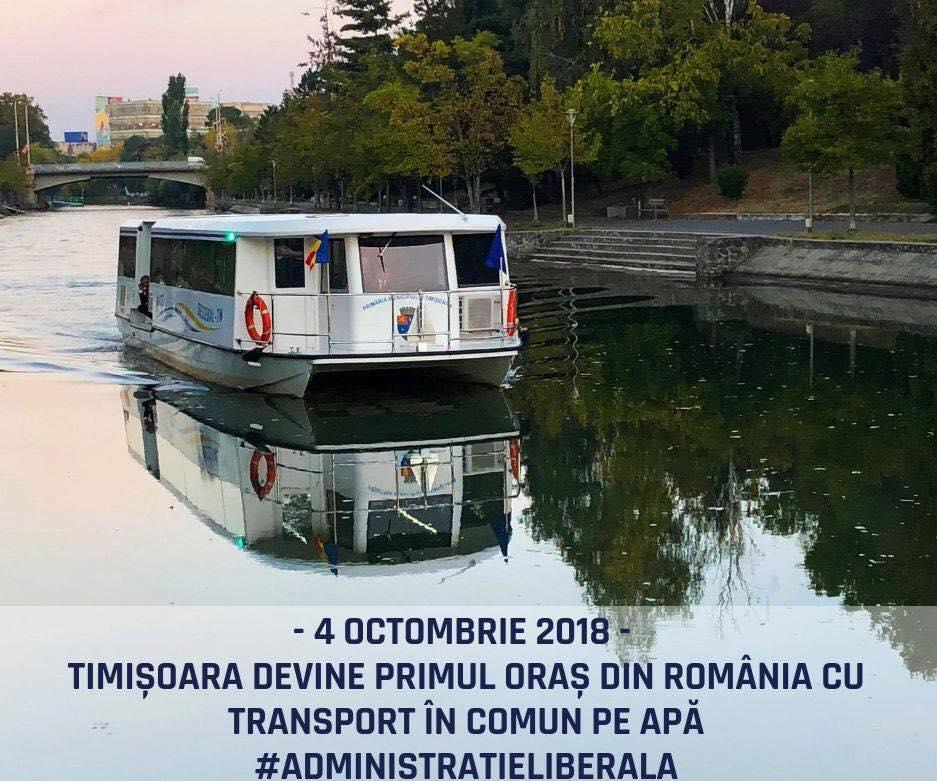 (Video)  Primul oraș din România cu Transport în Comun pe Apă. 1 leu călătoria cu vaporașul 1