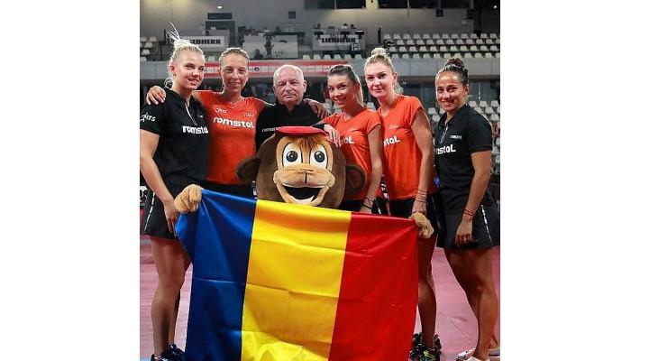 """FELICITĂRI! """"Auuur! Echipa Romaniei e campioană europeană la tenis de masă! Eliza Samara, Bernadette Szocs, Daniela Dodean au învins Portugalia, cu 3-0 în finala de la Nantes!"""" 1"""