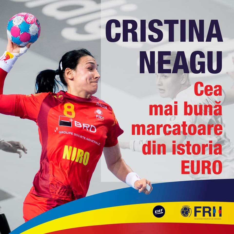 Felicitări! Cristina Neagu a devenit cea mai bună marcatoare din istoria Europeanului de handbal feminin 1