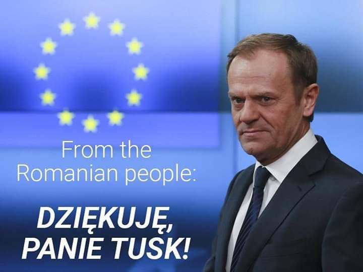 """Anca Simina: """"Euronews și-a deschis azi matinalul - """"Good morning, Europe"""" - cu știrea despre România..."""" Dragos David: """"Când am împlinit 100 de ani cele mai frumoase urări, în limba română, le-am primit de la un polonez! Mulțumesc Donald Tusk! Dziękuję, panie Donald Tusk!"""" 2"""