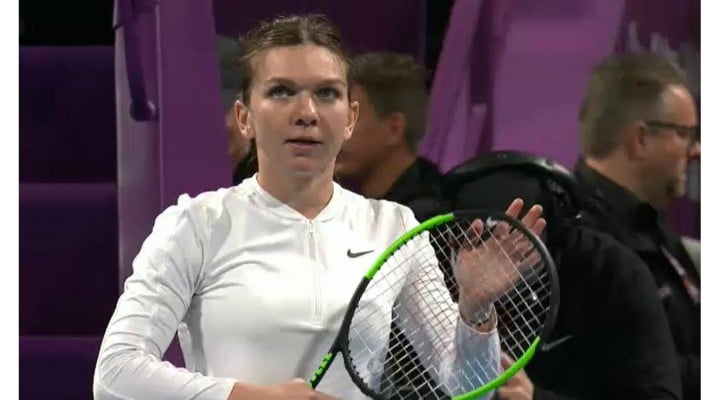 Simona Halep a pierdut finala din Qatar după ce Elise Merten a întrerupt partida pentru un tratament medical la vestiare. A revenit foarte energică 1
