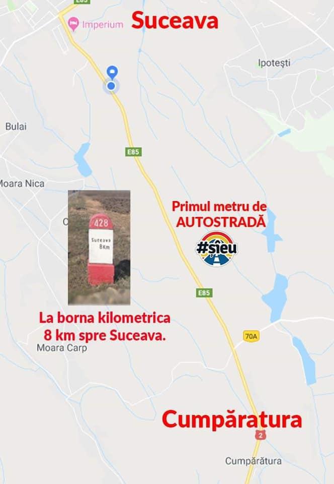 """Mergi? Ștefan Mandachi: """"Adresa exacta a Primului si singurului metru de autostradă... Toată manifestația este legală și autorizată! Vă rog din tot sufletul"""": 1"""