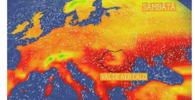 Caniculă. Val de aer saharian blocat deasupra României. Vor fi și nopti tropicale, cu temperaturi care nu vor scădea sub 20 de grade Celsius 9