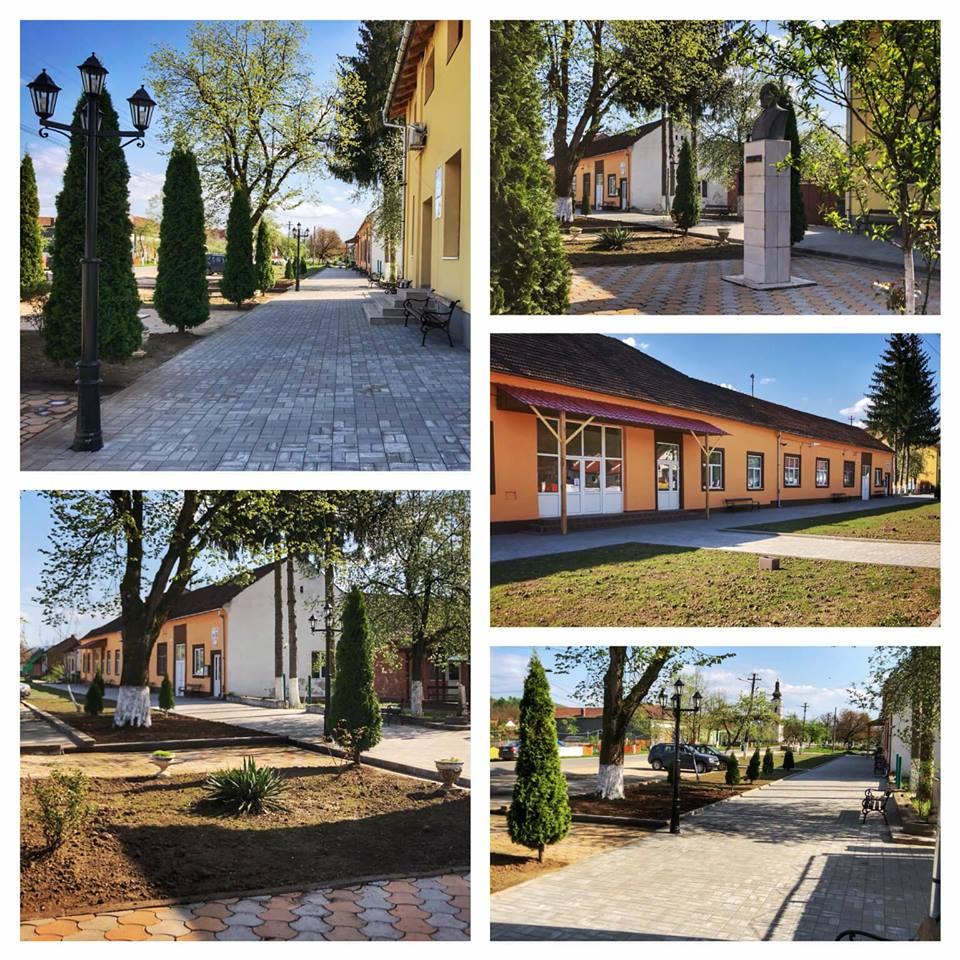 """Primarul care a reușit! Irina Onescu: """"Centrul Petrișului s-a transformat radical!Împreună cu colegii din primărie am reamenajat peisagistic zona, am pavat trotuarul pietonal, am extins..."""" 1"""