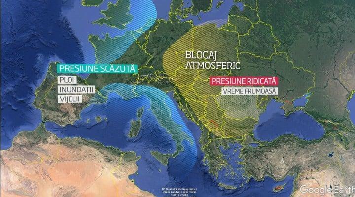România e sub un blocaj atmosferic cu aer saharian. Meteorologii explică motivul căldurii neobişnuite din octombrie, cea mai uscată lună octombrie din ultimii 60 de ani 1