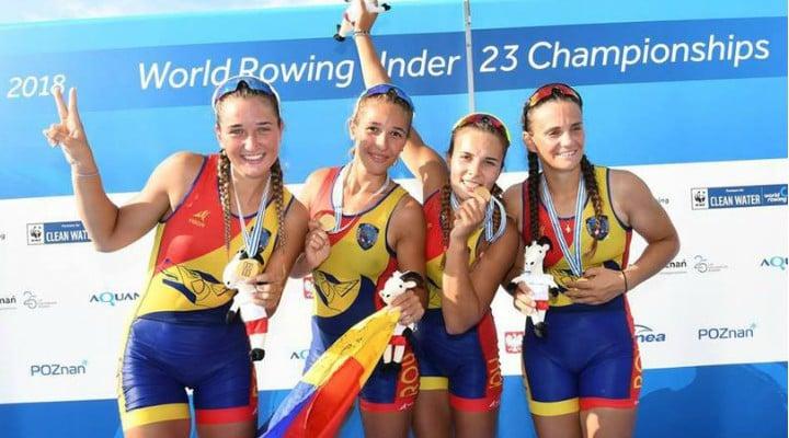 FELICITĂRI! Două medalii de aur, două de argint și una de bronz pentru România la CM de tineret de canotaj 1