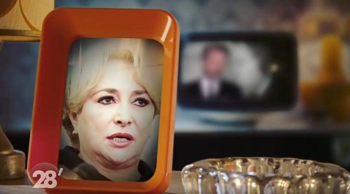 """(Video) Viorica Dăncilă ironizată de un canal de televiziune francez. """"Sunt nemulțumită că țara mea se află sub supraveghere și că sunt tratată ca o hoață. Eu sunt un om onest. Dacă aș fi o mincinoasă aș avea o mustață"""" 1"""