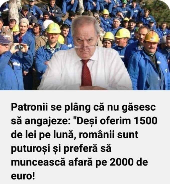 """Teodor, ironie: """"Patroni: Deși oferim 1500 de lei pe lună, românii sunt puturoși și preferă să muncească pe afară pe 2000 de euro"""" 1"""