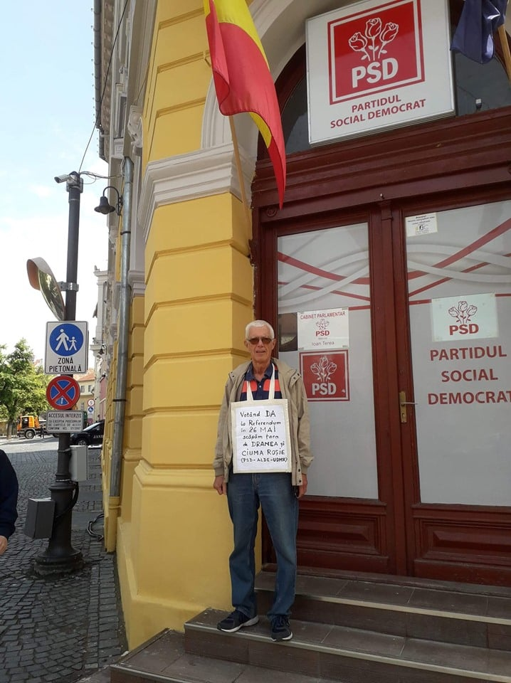 """Pensionar corect. Emil: """"Fac eu reclamă pentru referendum dacă PSD nu vrea"""". În cât timp îl vor lua jandarmii cu duba? 1"""