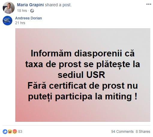 """Au apărut """"certificatele de prost"""" la sugestia europarlamentarului Maria Grapini. Shere Marinescu: """"Nu, nu suntem proști, suntem prost administrați, prost guvernați, prost conduși. Dacă vreți să o enervați cu adevărat pe Grapini și să ne ajutați să ..."""" 2"""
