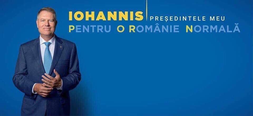 """Cine-și bate joc de Klaus Iohannis? Bogdan Ocnaru: """"Cum sa-i faci președintelui in funcție un astfel de slogan - PORN??!! Am tot sperat sa fie fake! Despre cromatica nush, dar mesajul asta e. E pe bune!! Da, milioane de euro ..."""" 1"""