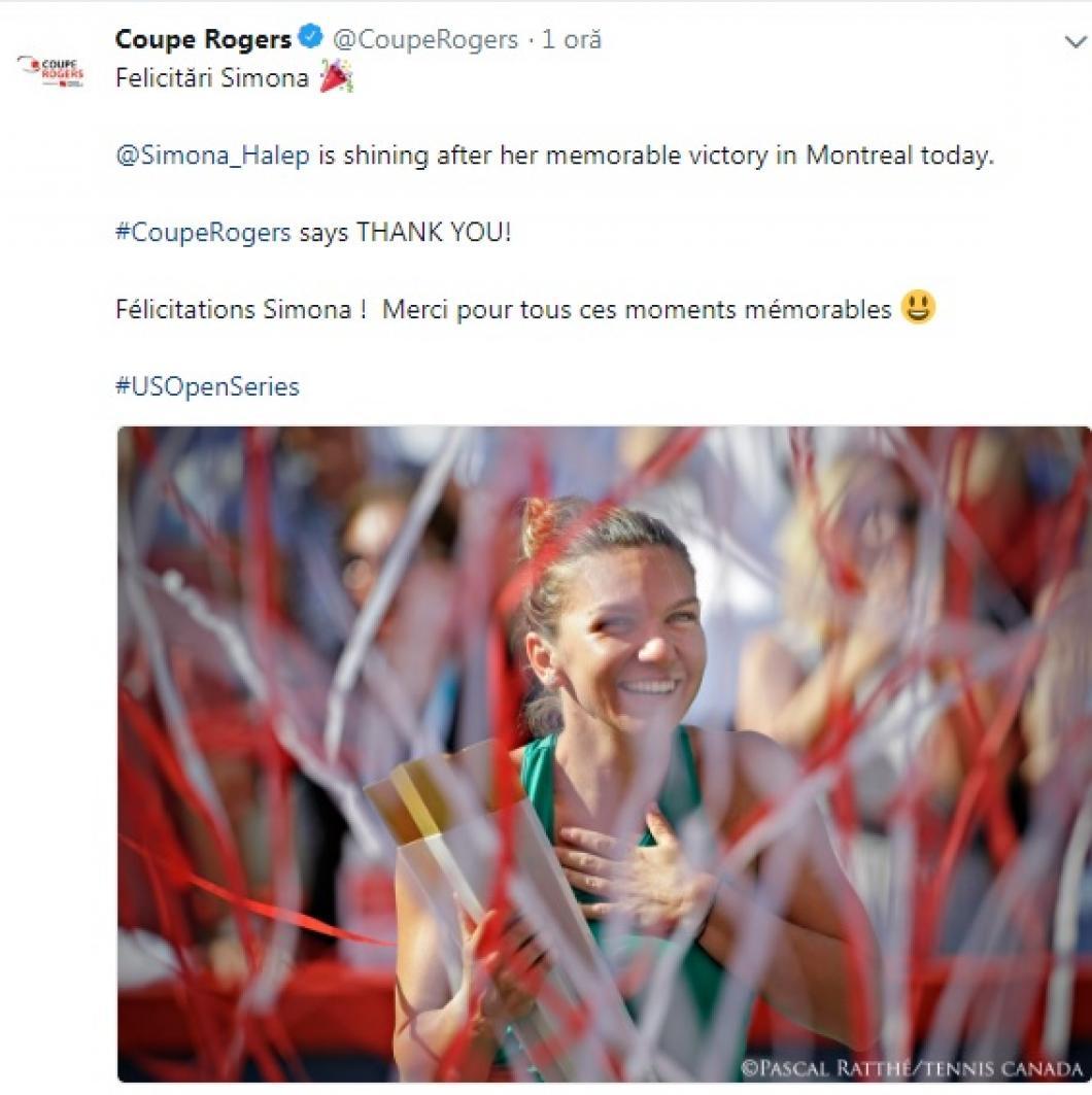 Simona Halep, ce spune presa internațională despre victoria din finala de la Montreal 2
