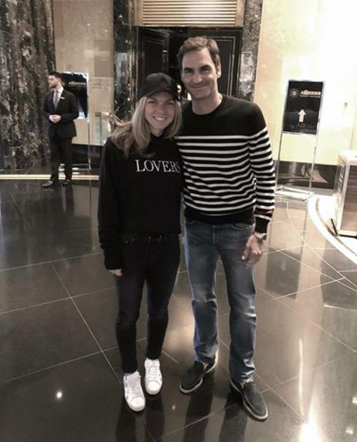 """Simona Halep: """"Mi-a fost rușine""""! Ce i-a spus tatăl lui Roger Federer Simonei la Australian Open 1"""
