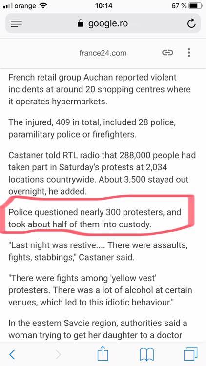 """Fără cumpărături! Româncă din Franța: """"La mine situația e critică  în sensul că autostrăzile sunt blocate intrări-iesiri, sensuri giratorii, dar și toate magazinele alimentare de tip Casino, Leclerc sau Carrefour. Te împiedică din a intra în magazine sau au blocat intrările ..."""" 2"""