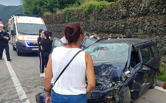 Accident grav! 8 răniți pe Valea Oltului, printre care și un copil în vârstă de un an 1
