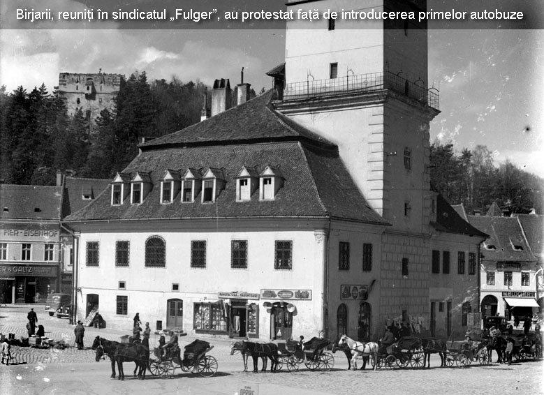 """Protestul taximetriștilor împotriva UBER la fel ca protestul birjarilor împotriva taximetriștilor, acum 100 de ani!Alexandru Ghiza: """"In 1930, birjarii ajunsesera deja intr-o situatie dramatica. Societatea Birjarilor a publicat in presa vremii o scrisoare deschisa, in care se explica faptul ca, dupa 100 de ani de servicii, birjarii au ajuns muritori de foame din cauza celor 100 de taxiuri si peste 40 de autobuze"""" 2"""