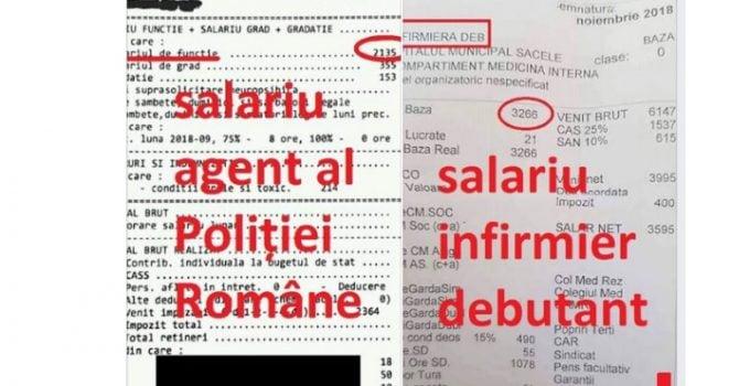 """Polițist din România, """"distrus"""" după ce a văzut fluturaşul de salariu al unui infirmier: """"Mi-am cumpărat o găleată cu mop şi cred că pun trusa criminalistică în cui. A propos, știe cineva când ..."""" 12"""