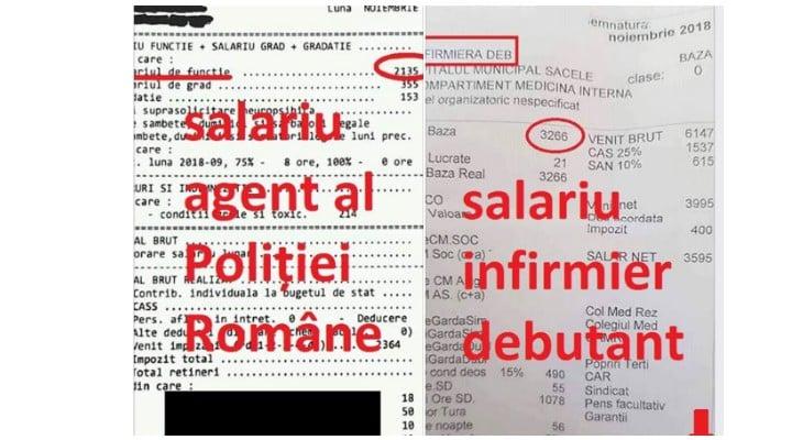 """Polițist din România, """"distrus"""" după ce a văzut fluturaşul de salariu al unui infirmier: """"Mi-am cumpărat o găleată cu mop şi cred că pun trusa criminalistică în cui. A propos, știe cineva când ..."""" 1"""