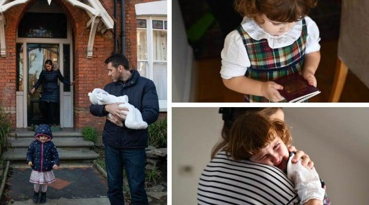 Speriați de Brexit. O familie de români cu două fetiţe mici se teme să mai trăiască în Anglia şi se întoarce acasă 1