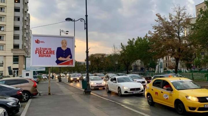 """Violeta: """"Numai Viorica Dăncilă are curajul să pună un panou vizibil doar din contrasens pe o stradă cu 3 benzi de sens unic"""" 2"""