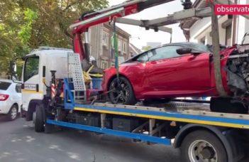 (Video) Cum arată maşina lui Mario Iorgulescu, după cumplitul accident la 240 km/h. Mașina a fost luată astăzi de Poliție 6