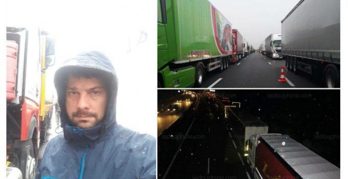 """(Foto) Zeci de şoferi români, apel disperat din Franţa: """"Avem 17 ore, suntem nemîncaţi! Faceţi ceva cu noi, că suntem blocaţi în Franţa de 8 ore cu camioanele şi nu ne zice nimeni nimic...."""" 1"""