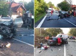 (Foto) Accident Grav. Doi morți după ce două autoturisme și un TIR s-au ciocnit pe Valea Oltului 3