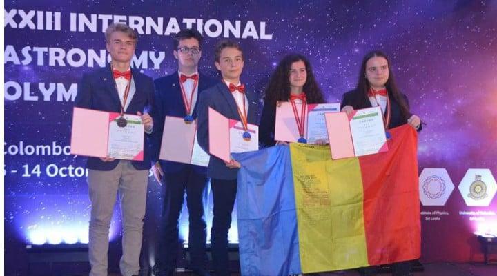 FELICITĂRI! Elevii din România au obţinut 5 medalii la Olimpiada Internaţională de Astronomie. Două de aur, una de argint și două de bronz 1