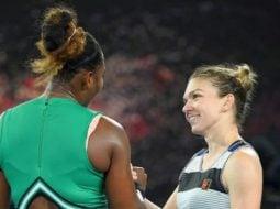 """Serena Williams, despre Simona Halep: """"Am jucat cu liderul mondial şi e acolo pentru că merită....Ştiam că pot să joc tot mai bine şi am reuşit să fac diferenţa. Nu cedez niciodată. Lupt până la ..."""" 9"""
