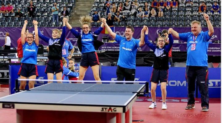 FELICITĂRI! Medalie de aur pentru echipa de cadete a României la Campionatele Europene de tenis de masă de la Cluj 1
