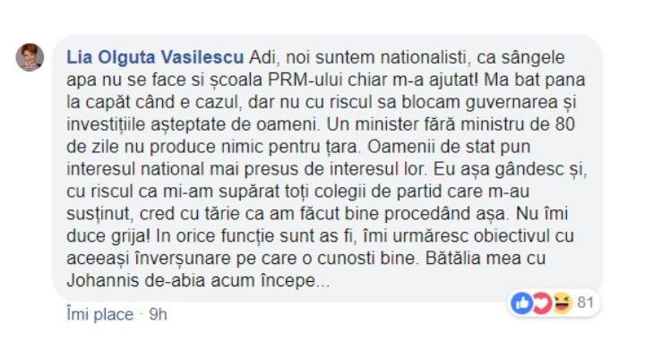 """Olguța Vasilescu: """"Bătălia mea cu Iohannis de-abia acum începe...Noi suntem naționaliști, ca sângele apa nu se face si școala PRM-ului chiar m-a ajutat! Ma bat pana la capăt când ..."""" 2"""